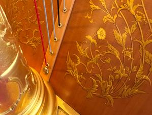 Details der Harfe