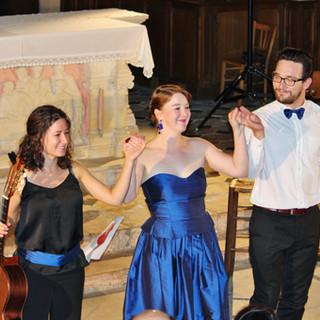 """Trio """"Parlez-moi d'amour"""" with Clémentine et Corentin Decouture // Compagnie Divague//-( Dijon-August 2014)"""