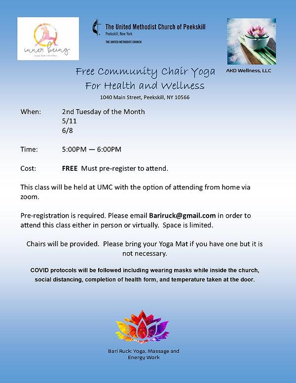 Community Chair Yoga Church 2nd Tuesday