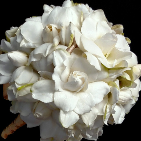 couture bouquet #2 featuring gardenias
