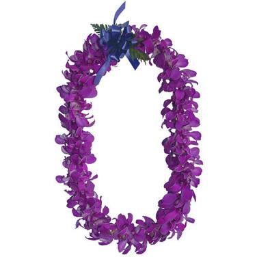 purple orchid lei ($45+)