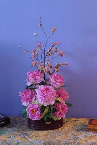 peony arrangement, 2010