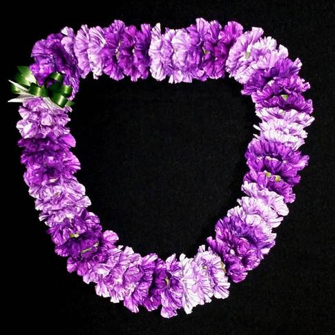 purple / lavender carnation lei  ($75+)
