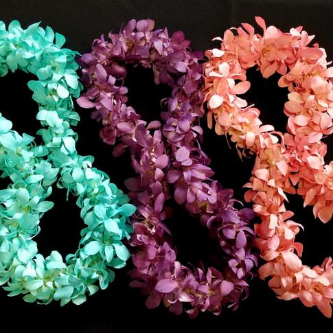 color enhanced leis