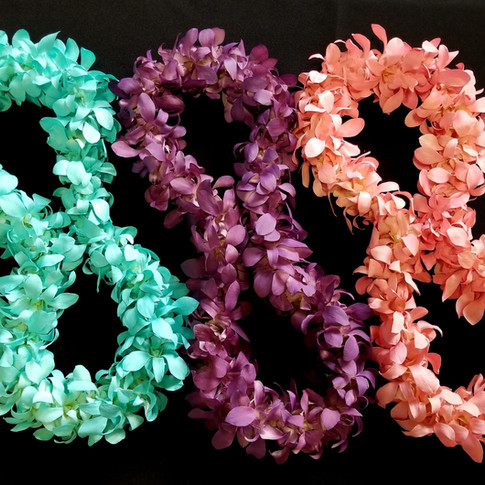 color enhanced leis ($60+)