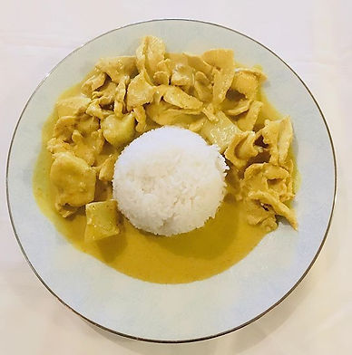 Chicken yellow curry: 11.95 only during