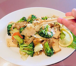 Phad See Ewe tofu #nomeat #vegetarian #k