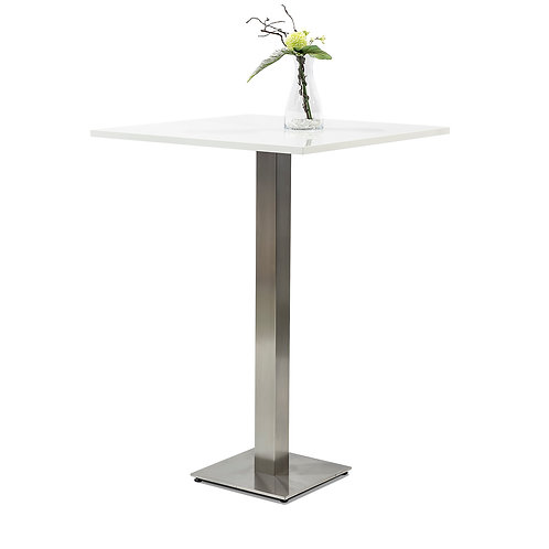 Standing table matte white