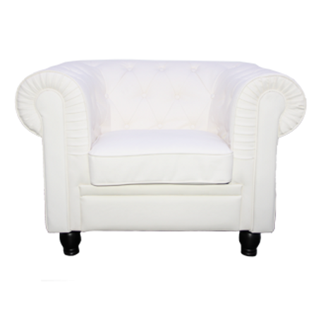 Chesterfield couch 1 seater white