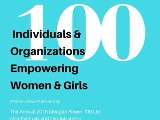 iGIANT named as one of 2016 Ideagen Power 100 Lists - Individuals and Organizations Empowering Women