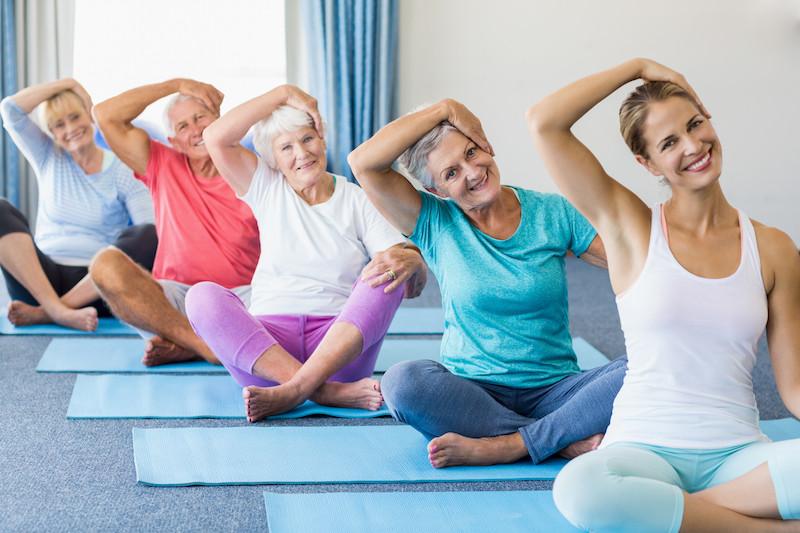 Yoga with seniors