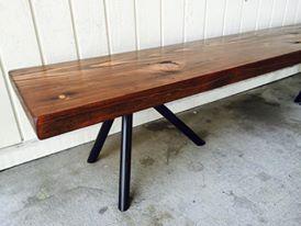 reclaimed wood and black steel