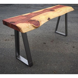 console table redwood slab