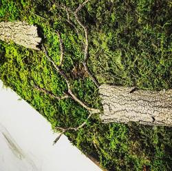 #statuswood #mossart #mossdesign #artpanel #greenart #greendesign #mossart #wooddecor #woodart #wood