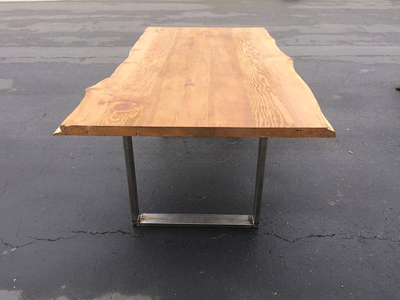 Reclaimed Wood with Natural Live Edge DiningTable
