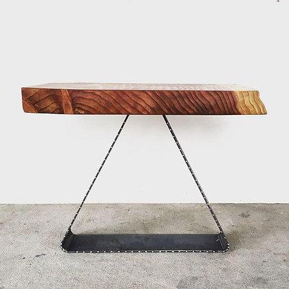 Redwood Slab SIde Table