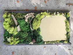 #statuswood #wallart #mossart #mirror #mirrorframes #greendesign #rusticart #natureart #uniquedecor
