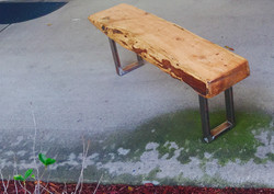 Solid slab for a bench