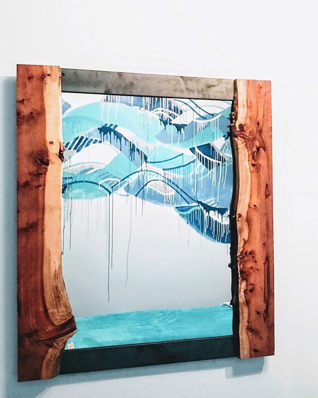 Live edge redwood framed mirror #statuswood #mirror #liveedge #homedecor #interiordesign #custommade