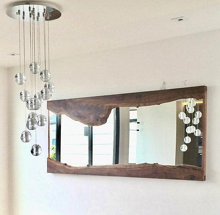 Live Edge Slab walnut mirror