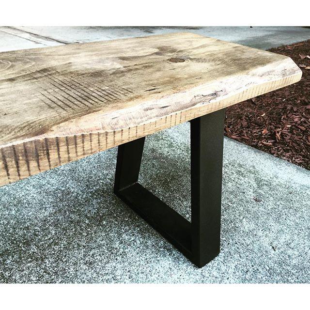 rustic, yet modern bench