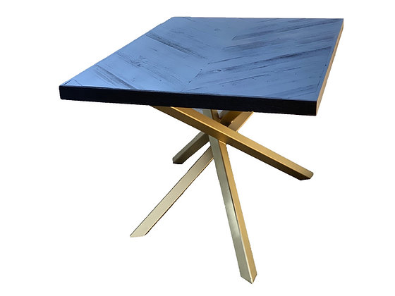 Black Chevron on golden base Table