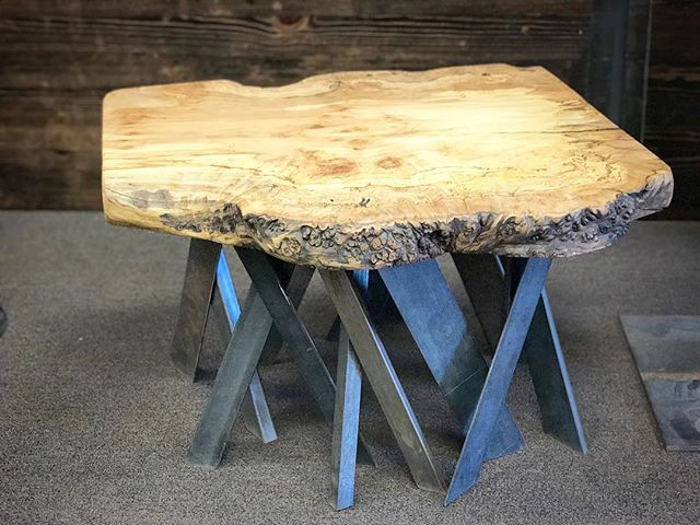 Maple slab coffee table  #statuswood #coffeetable #slabtable #liveedgetable #liveedgefurniture #wood