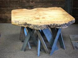 Maple slab coffee table  #statuswood #coffeetable #slabtable #liveedgetable #liveedgefurniture #wood