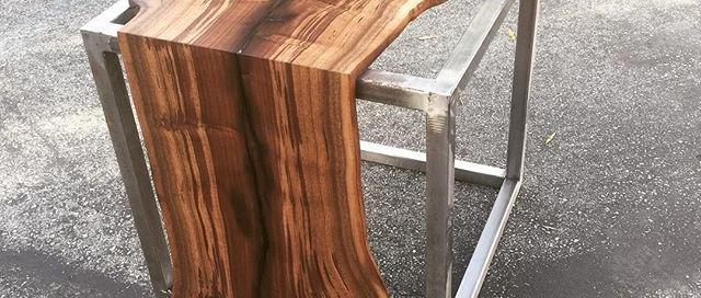Walnut Waterfall Side Table