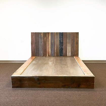 Reclaimed Redwood and Beams Bed