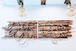 Reclaimed wood + hemp twine  art panel for a new Ramen 🍜 spot in SF