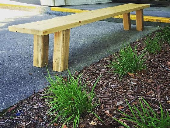 Low Tokyo pine bench