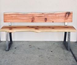 Live edge simple bench