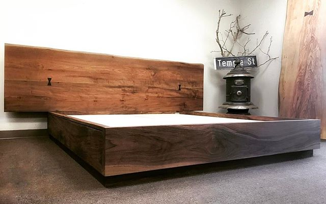 Walnut bed for a good night sleep