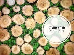 New art collection #statuswood #mossart #greenart #greendesign #walldecor #custommade #customstuff #