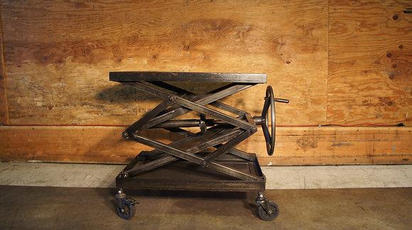 Metal Scissors Crank Table