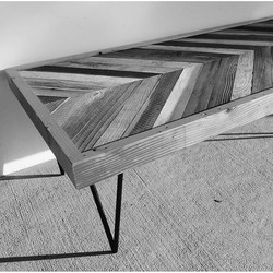 Chevron pattern coffee table