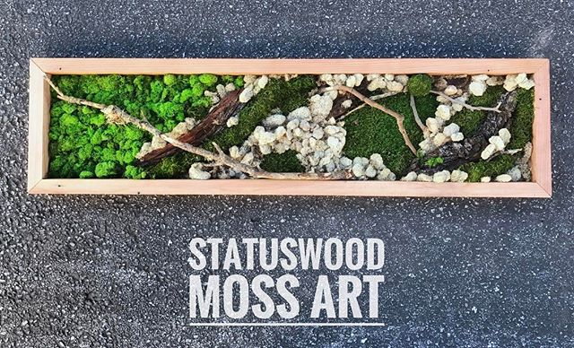 custom orders are welcome #statuswood #mossart #wallart #custommade #greenart #furnituredesign #uni