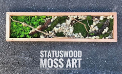 custom orders are welcome #statuswood #mossart #wallart #custommade #greenart #furnituredesign #uni