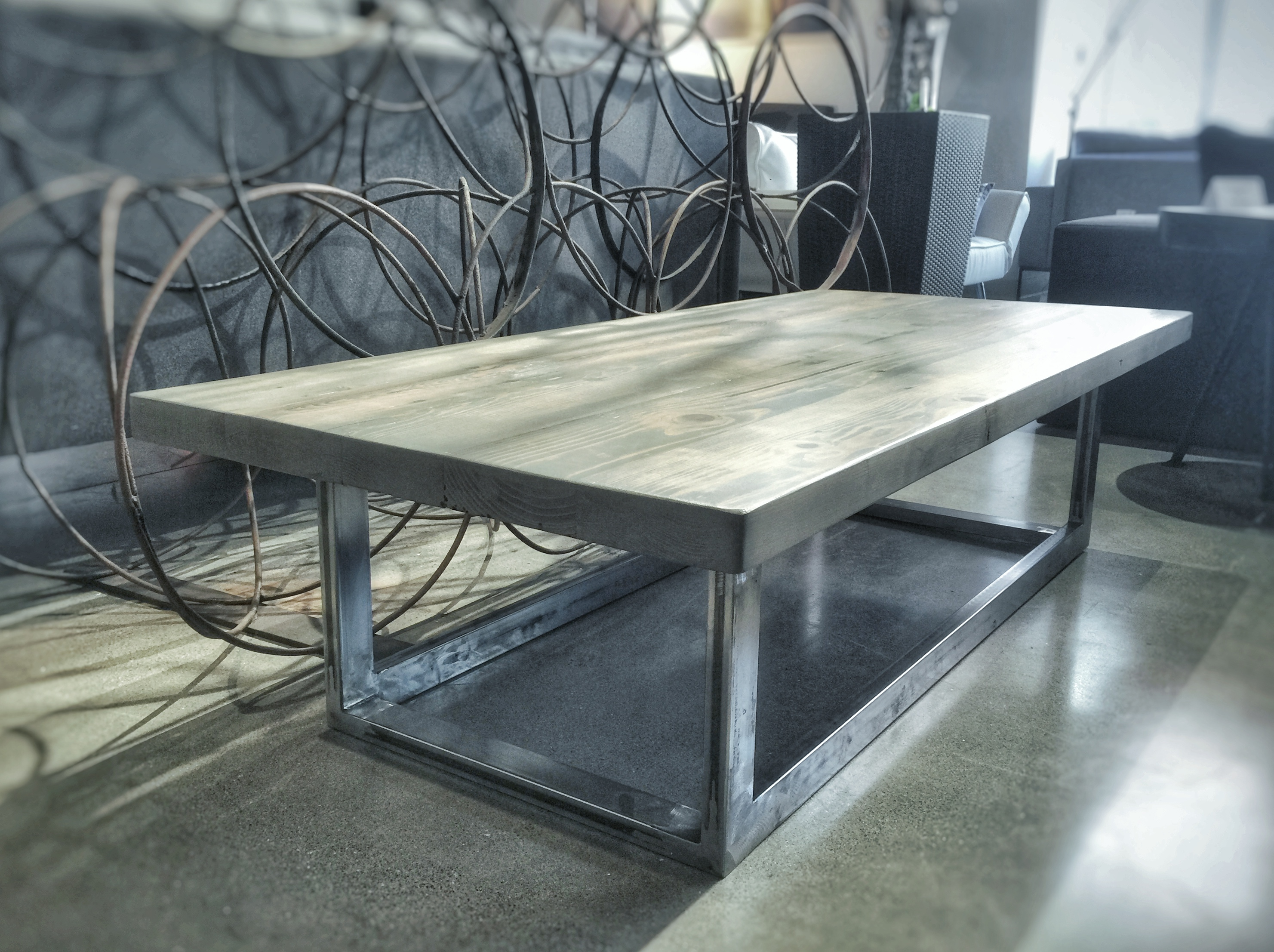 Coffee Table on steel frame