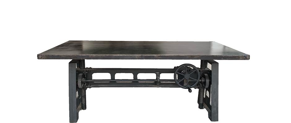 Blackened steel Crank table