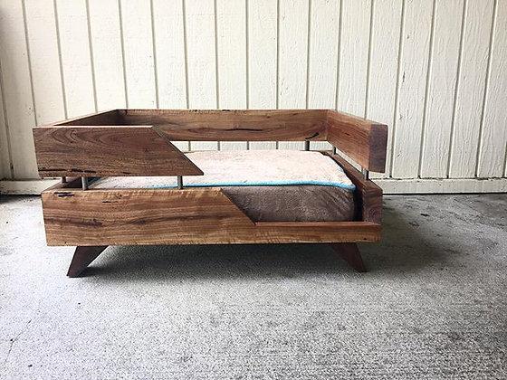 Modern Walnut Dog Bed