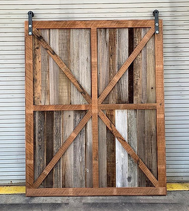XL Framed X brace Barn Door