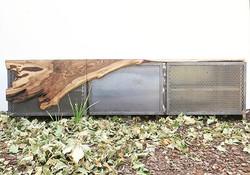 METAL CABINET WRAPPED IN WALNUT