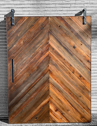 Chevron patter Barn Door