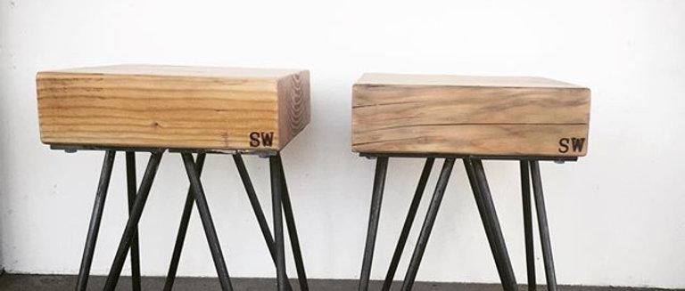 Reclaimed wood Beam Stool