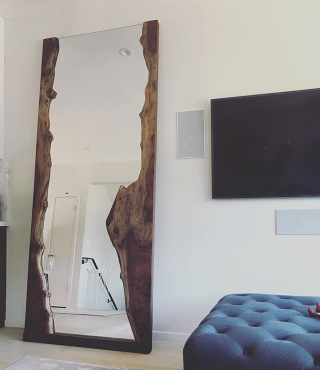 LIVE EDGE WALNUT MIRROR