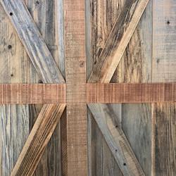 custom Barn Doors 🚪 X brace #statuswood #barndoor #door #reclaimedwooddoor #custommade #customdoors