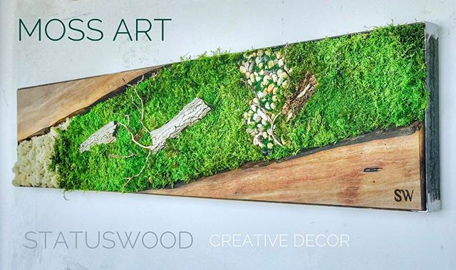 #statuswood #mossart #mossdesign #custommade #homedecor #decor #interiordesign #greenart #greendesig