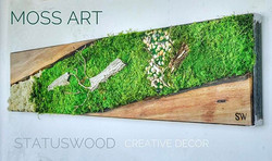 #statuswood #mossart #mossdesign #custommade #homedecor #decor #interiordesign #greenart #greendesig